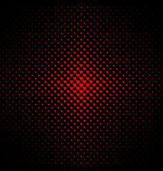 Halftone heart pattern background - valentines vector