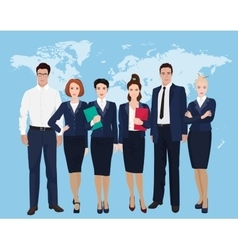 Happy group of a professional business team vector image vector image