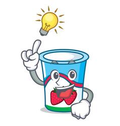 Have an idea yogurt mascot cartoon style vector