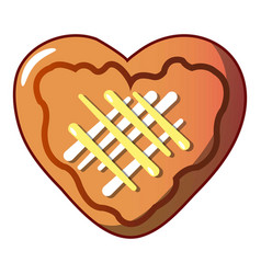 heart cookie icon cartoon style vector image