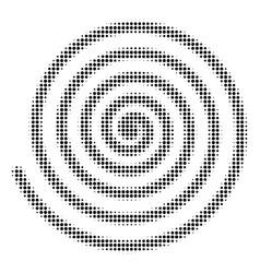 Hypnosis halftone icon vector