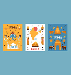 india travel banner simple vector image