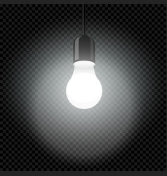 light bulb in dark template transparent vector image
