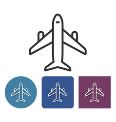line icon plane in different variants vector image