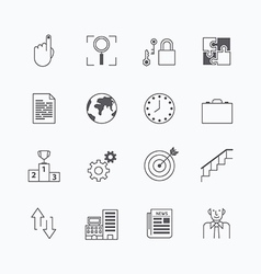 linear web icons set - business collection vector image vector image