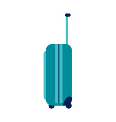 Luggage with handle and wheel vector