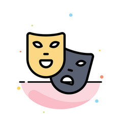 Masks roles theater madrigal abstract flat color vector