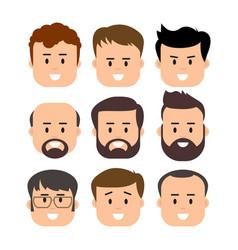men male human face vector image