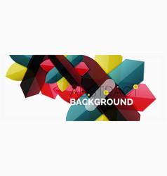 minimal dynamic geometric background vector image