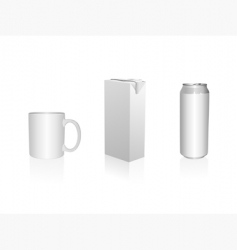 mug juice packing and can vector image