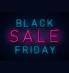 neon black friday vector image