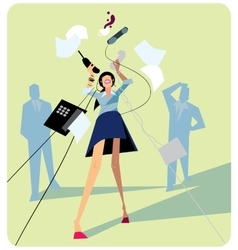 Office stress work vector image