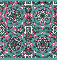 oriental ornament relaxing doodle seamless vector image