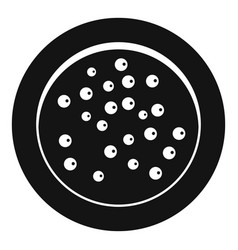 peppercorns on a plate icon simple style vector image