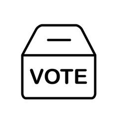 Polling box vector