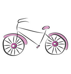 Purple bicycle or color vector