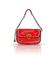 Red glamour bag vector image