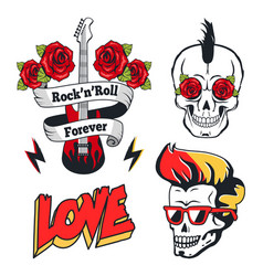 rock-n-roll forever isolated on white color poster vector image