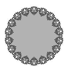 Round decorative frame vector