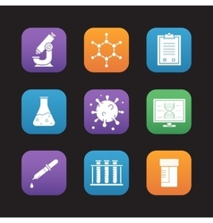 Science laboratory tools icons vector image