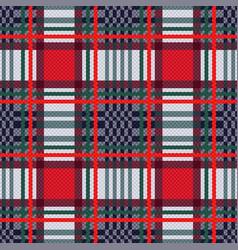 seamless tartan contrast rectangular texture vector image