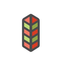 Security border post icon cartoon vector
