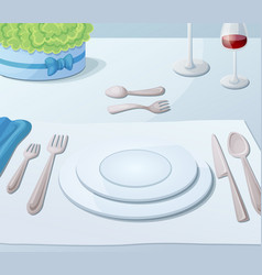 Served table vector