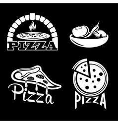 Set for pizzeria or italian restaurant vector