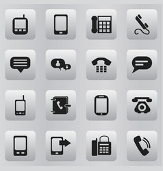set of 16 editable gadget icons includes symbols vector image
