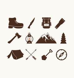 set of camp elements vector image