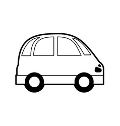 Sketch silhouette image small car icon vector