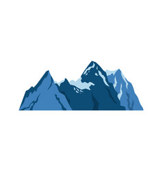 Snow mountains peak alpine landscape image vector