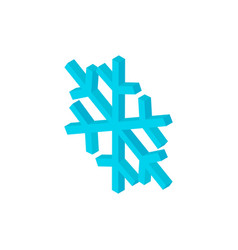 snowflake isometric object vector image