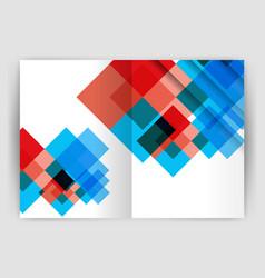 Square design corporate business flyer vector