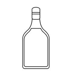 tequila bottle alcoholic beverage outline vector image