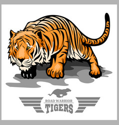 Tiger attack - sport mascot style vector