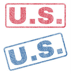 us textile stamps vector image