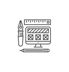 web design line icon vector image