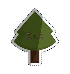 xmas pine tree vector image
