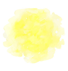 yellow watercolor texture vector image