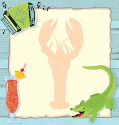 cajun lobster party invitation vector image