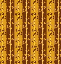 seamless pattern with branches and leaves vector image vector image