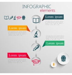 set of abstract 3d paper infographic elements with vector image vector image
