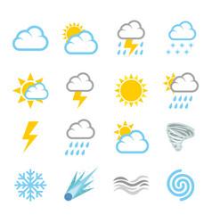 weather forecast air temperature season vector image