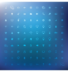 100 popular web icons eps 10 vector image