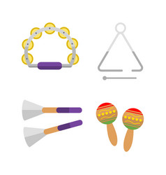 mexican maraca musical sound percussion instrument vector image