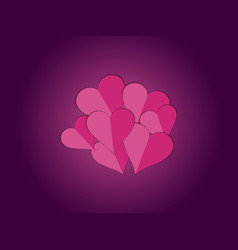 paper hearts heart decorative valentines day vector image