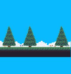 pixel art trees vector image vector image