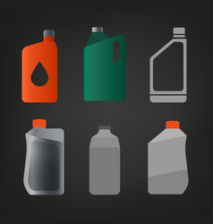 synthetic oil icon vector image