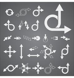 Arrow signs vector